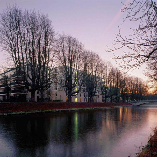 Clarenbachgärten Köln, Architekturfotografie ©Martin Gaissert